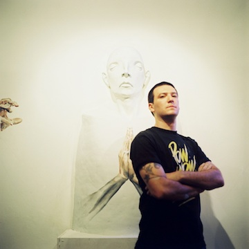 me and my main sculpture for Pow Wow 2012, photo: Zach McCaffree